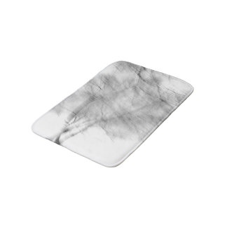 Black And White Abstract Tree Photograph Bath Mat