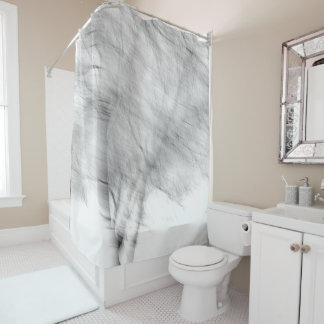 Black And White Abstract Tree Photograph Shower Curtain