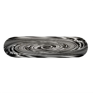 Black and White Abstract Twist Skateboard
