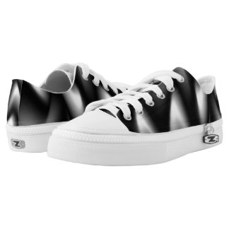 Black and White Abstract Zebra Printed Shoes
