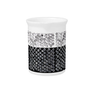 Black and white abstraction pitcher