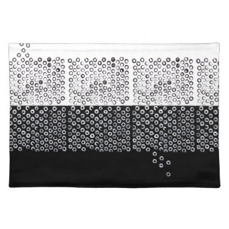 Black and white abstraction placemat