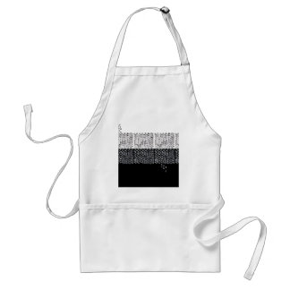 Black and white abstraction standard apron