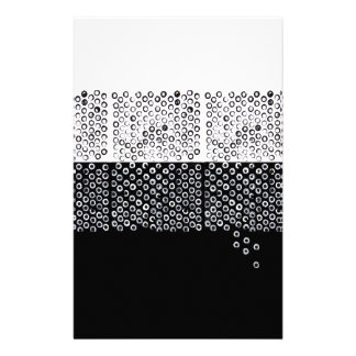 Black and white abstraction stationery