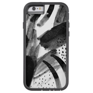 Black and White Abstraction Tough Xtreme iPhone 6 Case