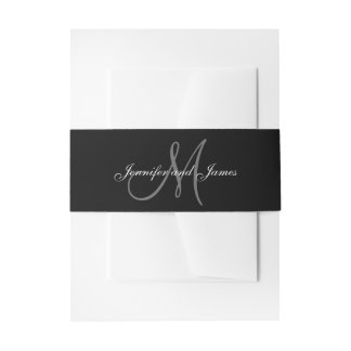 Black and White Affair | Wedding Belly Band Invitation Belly Band