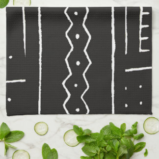 Black and White African Mud Cloth Motif