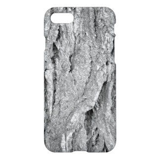 Black and White Aged Bark iPhone 7 Case