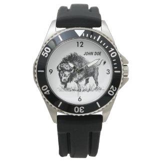 Black and White American Buffalo Watch