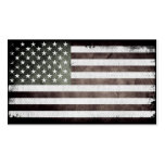 Black and White American Flag Business Cards