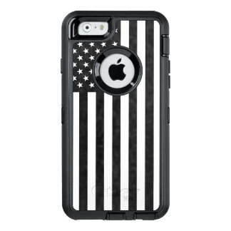 Black and White American Flag OtterBox Defender OtterBox iPhone 6/6s Case