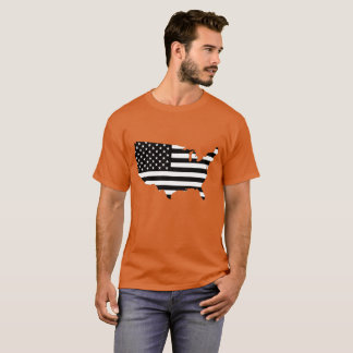 Black and White American Flag Shirt