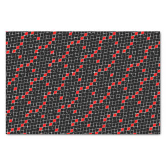 black and white and red diamonds pattern tissue paper