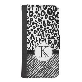 Black and White Animal Print iPhone 5 Wallet