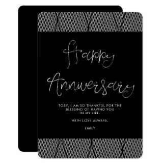 Black and White Anniversary Card
