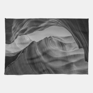 Black and White Antelope Canyon Tea Towel