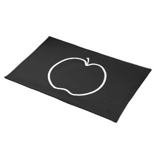 Black and White Apple. Placemat