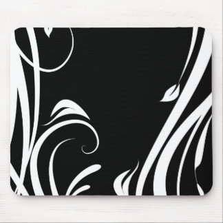 Black and white arabesque Mousepad