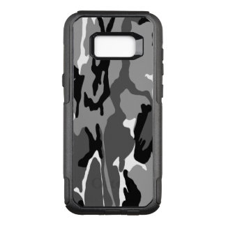 Black and White Arctic Camo OtterBox Commuter Samsung Galaxy S8+ Case