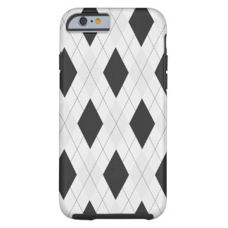 Black and White Argyle Case for iPhone 6 case Tough iPhone 6 Case