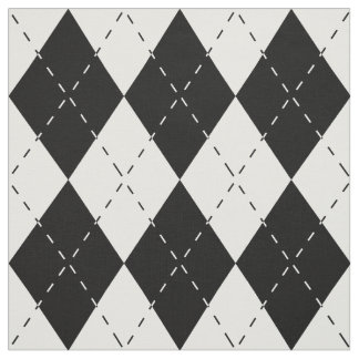 Black and White Argyle Fabric