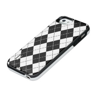 Black and White Argyle iPhone SE/5/5s Battery Case