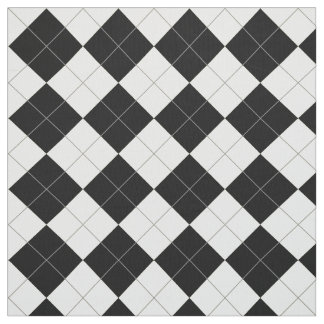 Black and white argyle pattern fabric
