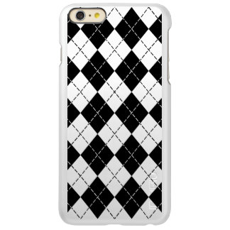 Black and White Argyle Incipio Feather® Shine iPhone 6 Plus Case