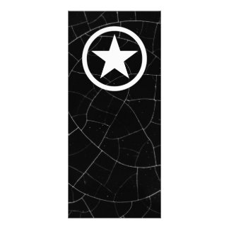 Black and White Army Star Full Colour Rack Card