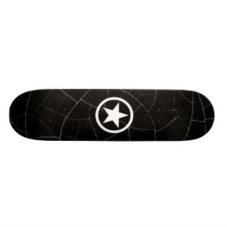 Black and White Army Star 21.6 Cm Old School Skateboard Deck