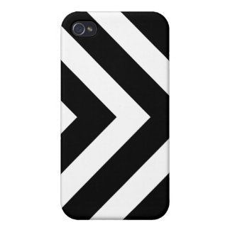 Black and white arrows chevron pattern iPhone case iPhone 4/4S Cases