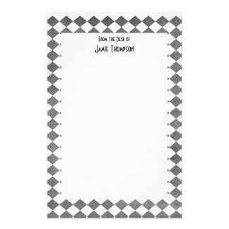Black and White Art Deco Custom Stationery Design