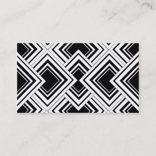 Art deco business cards zazzle au black and white art deco design business card colourmoves