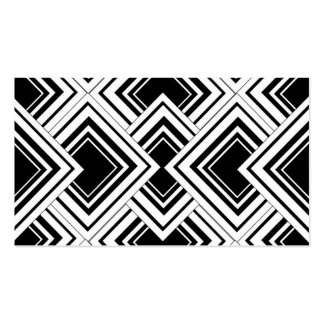 Black And White Art Deco Design Pack Of Standard Business Cards