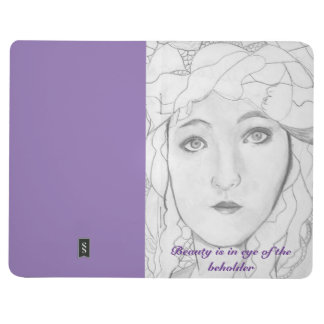 Black and White Art Purple Journal