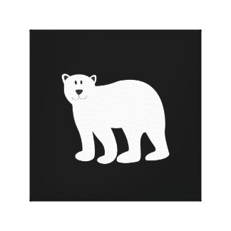 Black and white artistic canvas print Bear