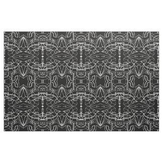 Black and White Artwork Design Pattern Fabric