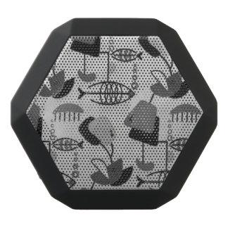 Black and White Atomic Pattern Speaker