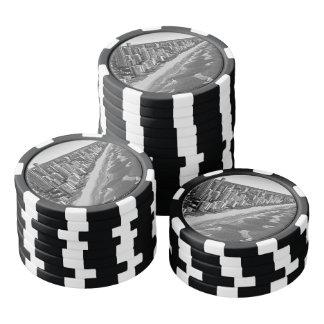 Black and White Australia Gold Coast Poker Chips