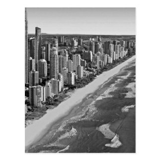 Black and White Australia Gold Coast Postcard