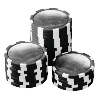 Black and White Autumn forest Poker Chips