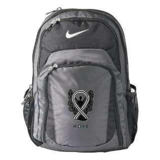 Black and White Awareness Ribbon Angel Backpack