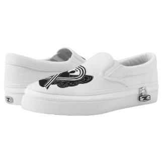 Black and White Awareness Ribbon Angel Custom Shoe