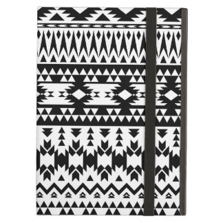 Black and White Aztec geometric vector pattern iPad Air Cover