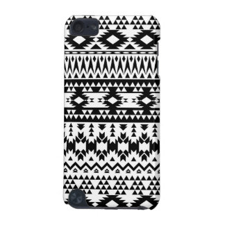 Black and White Aztec geometric vector pattern iPod Touch 5G Case
