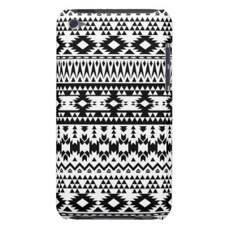 Black and White Aztec geometric vector pattern iPod Touch Covers