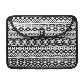 Black and White Aztec geometric vector pattern Sleeve For MacBooks