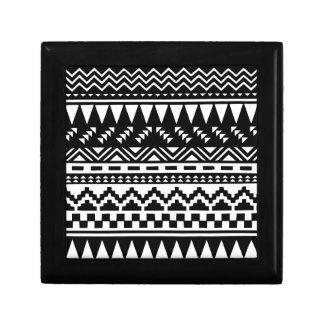 Black and White Aztec Tribal Gift Box