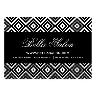 Black and White Aztec Tribal Print Pack Of Chubby Business Cards