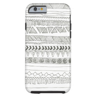 Black and White Aztec Tribal Tough iPhone 6 Case